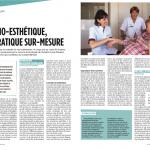 """Intervention d'une socio-esthéticienne au sein du service d'oncologie de l'hopital Louis Mourier (92), extrait du magazine """"Infirmière magazine"""""""